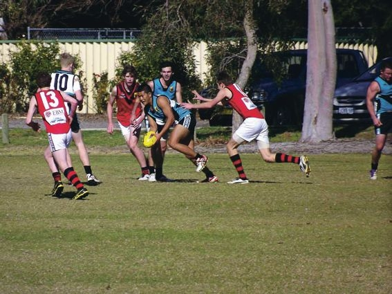 Canning Vale Cougars colts captain Zakir Amer in action against Mosman Park during the home and away rounds.