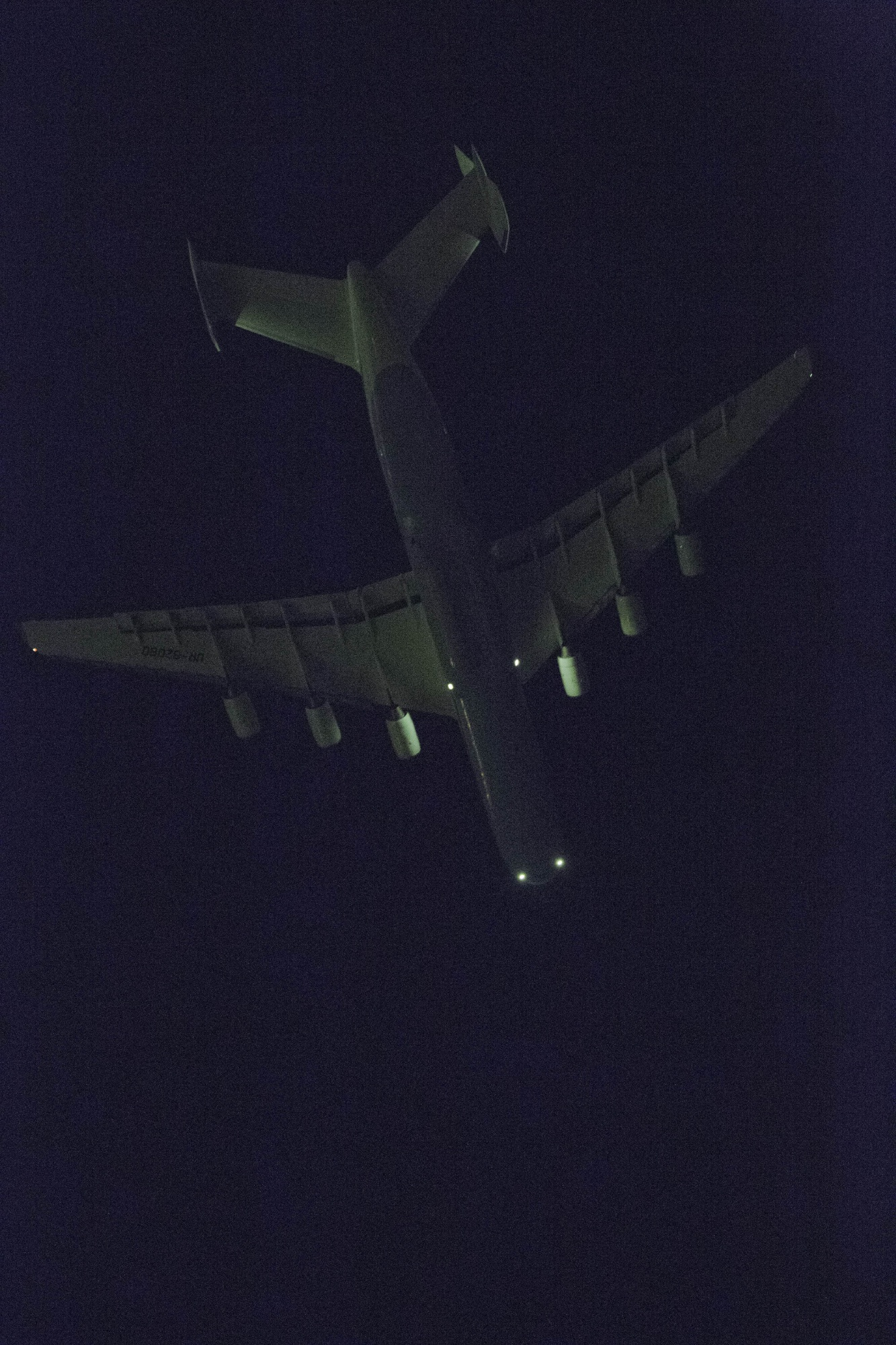 The Antonov An-225 flying high after leaving Perth early this morning. Picture: Bharathan Kangatheran