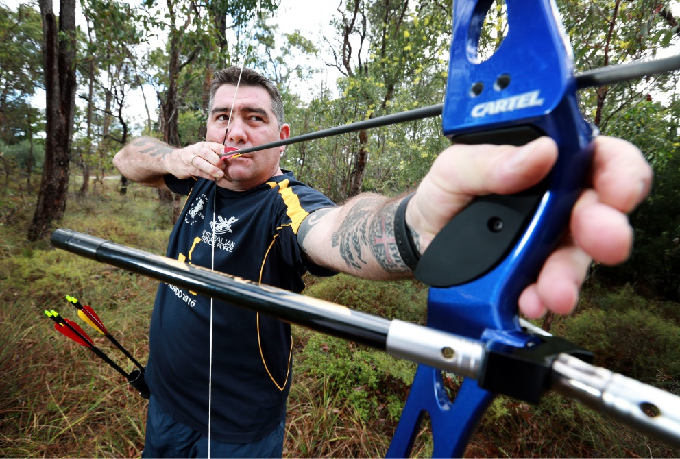 Former SAS soldier Peter Rudland will be the only Western Australian at the Invictus Games in the US next month. Picture: David Baylis d452846