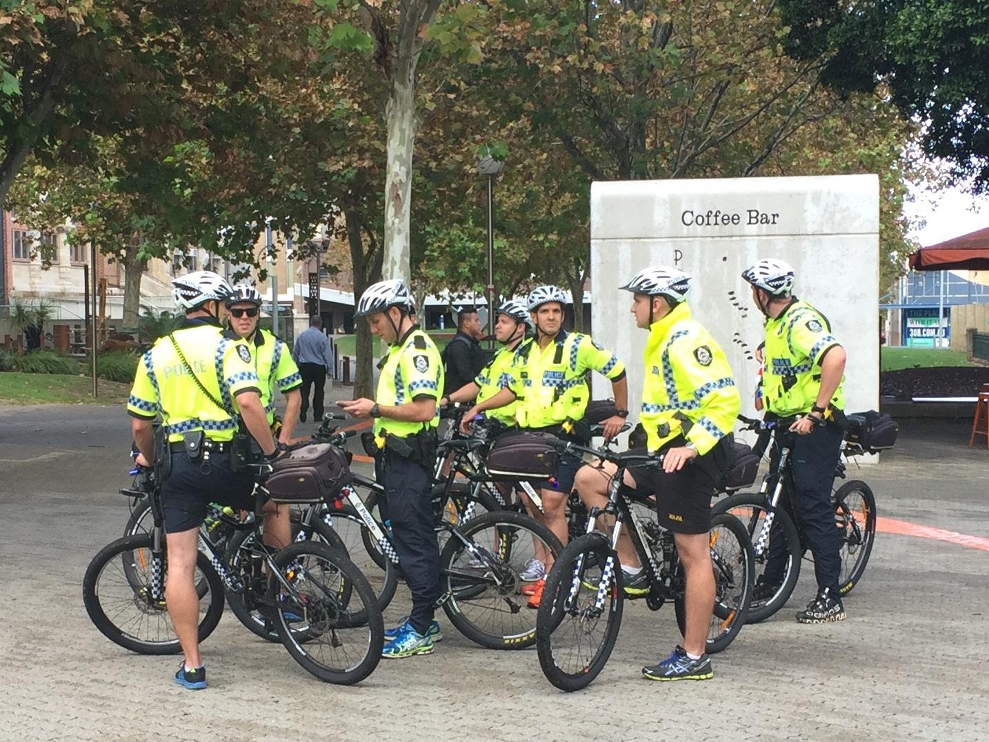 WA Police's Bicycle Patrol Group. Picture: Justin Bianchini
