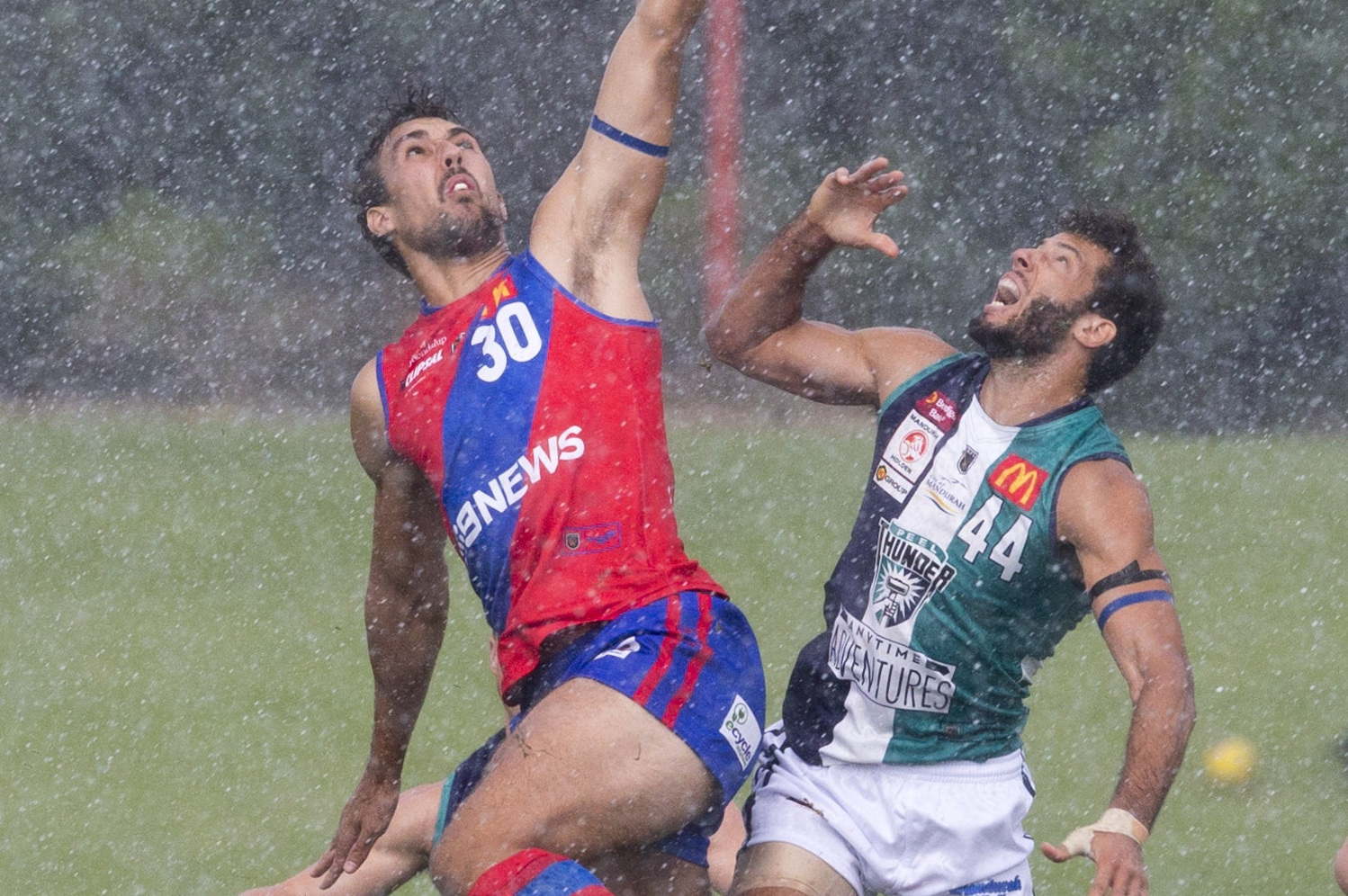 West Perth persevered in tough conditions against Peel.  Picture: Dan White