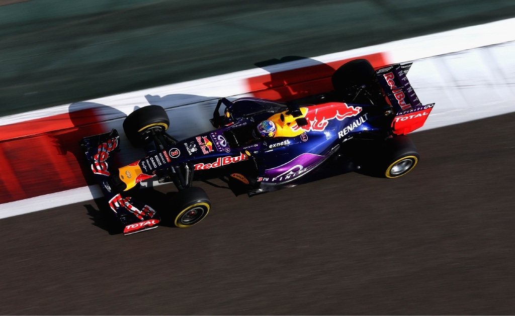 Daniel Ricciardo behind the wheel in Abu Dhabi recently.
