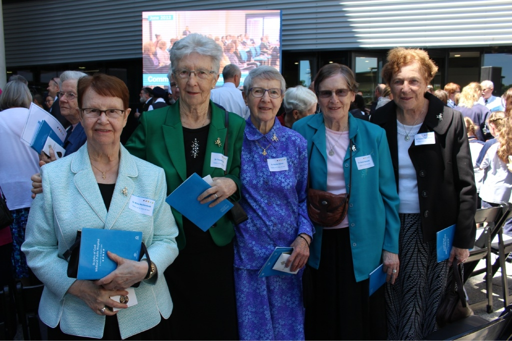 St John of God Sisters Rita McDermott, Teresa Joyce, Nuala Horkan, Denise Moloney and Teresa Ann Garry.
