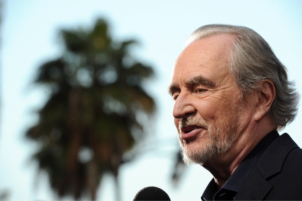 Wes Craven at the premiere of his final film, Scream 4. Picture: Getty Images.
