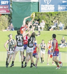 Action from last Saturday's West Perth-Swans clash. Picture: Dan White