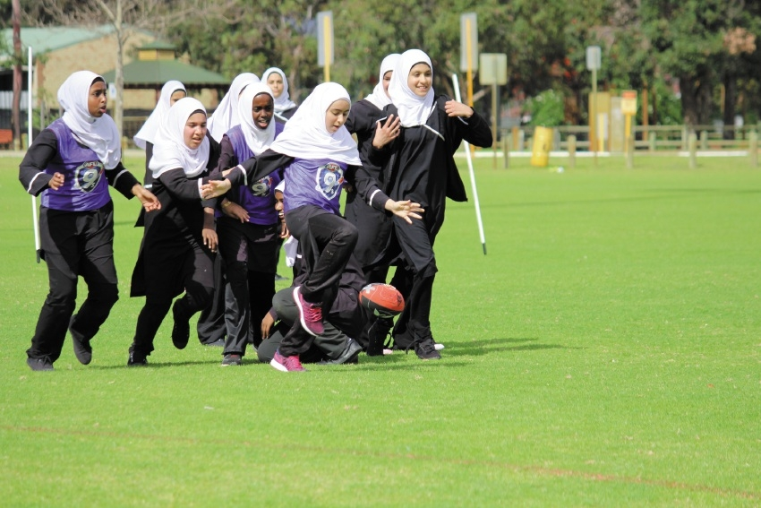 Ramadan festivities on field