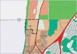 A map of the affected area.