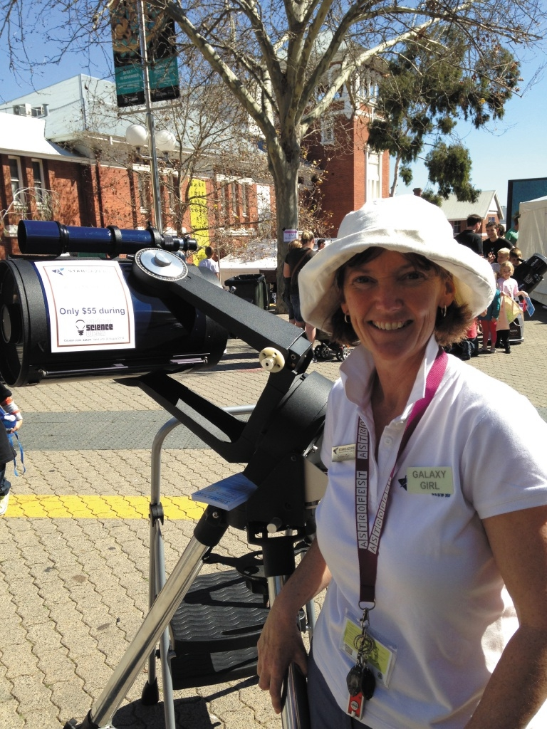 Carol Redford out and about during National Science Week 2015.
