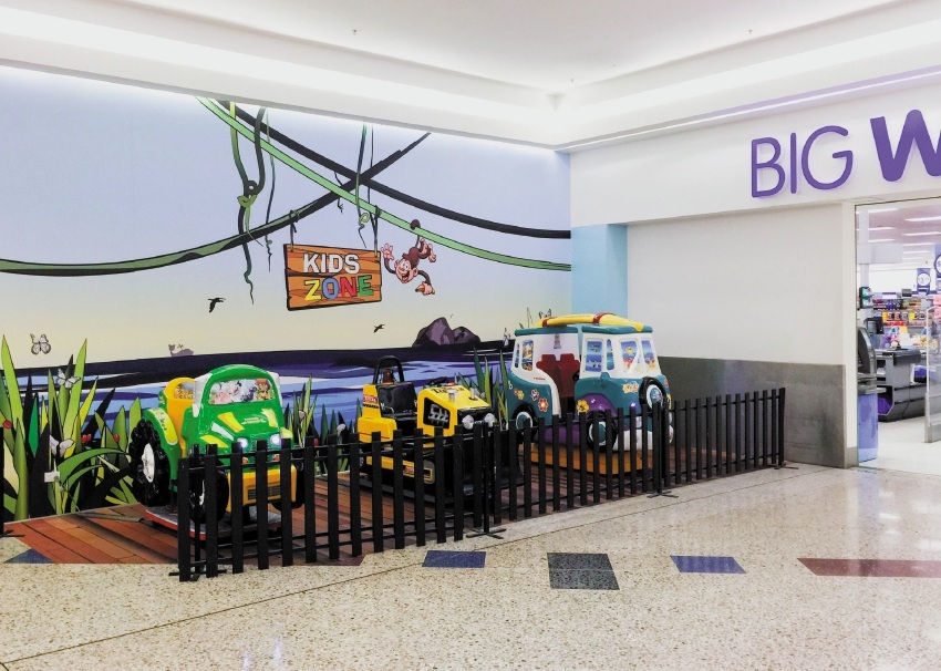 The new play area at Mirrabooka Square.