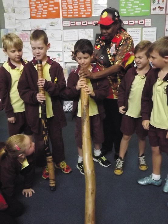 Year 1/2 Connolly Primary School students taking part in the Urban Indigenous workshops.