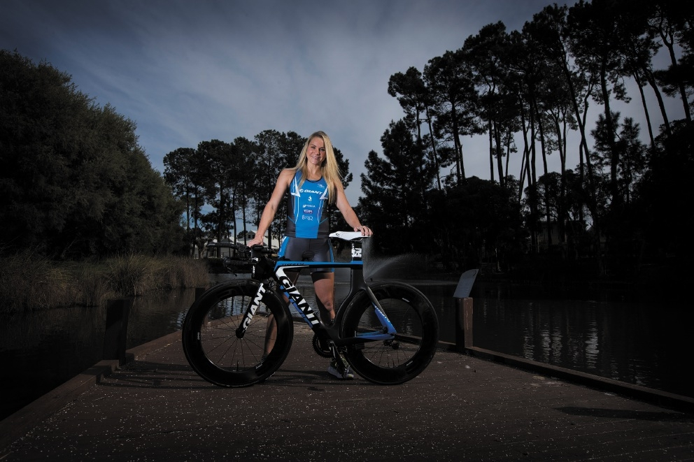 Renee Baker, who has now turned professional, is training for next year's IRONMAN 70.3 championships. Picture: Will Russell        www.communitypix.com.au   d441694