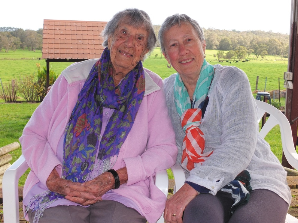 Cancer survivor Pat Winch and her mother Freda Screaigh holidaying last month on a Denmark farm.