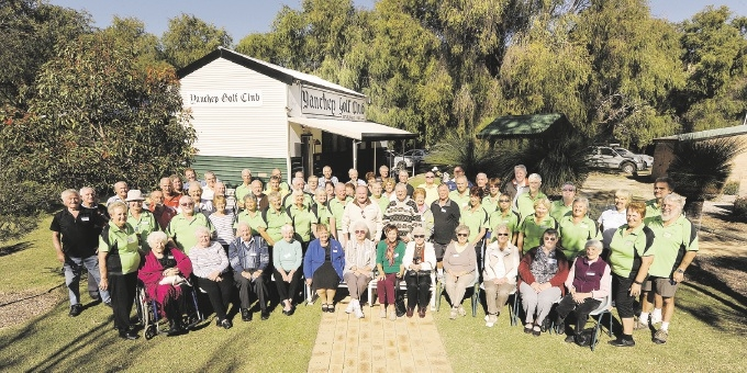 Past and present members celebrated Yanchep Golf Club's 50th anniversary last Sunday. Picture: Chris Kershaw
