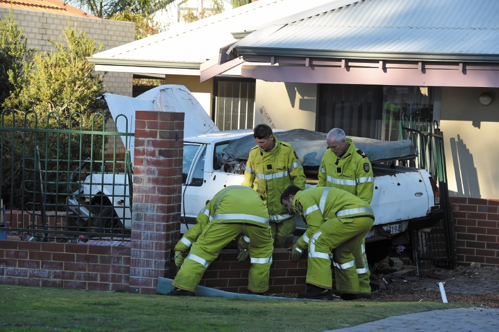 Emergency services clean up the damage caused by the Ute