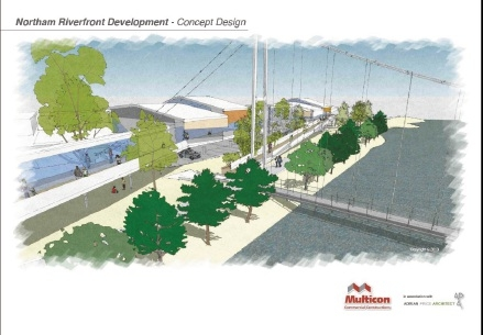 An artist's impression of the Aboriginal Cultural and Environmental Interpretive Centre planned for Northam.