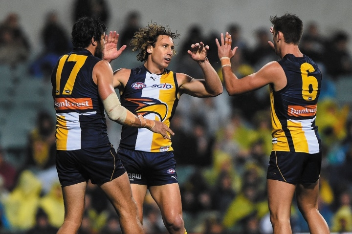 Matt Priddis is one of West Coast's favourite sons. Photo: Getty