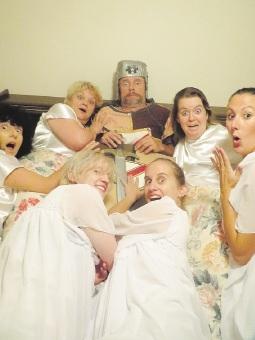 Sir (Geri Jones) with the Sisters of Celibacy.