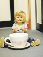 Dianne Tinetti's grandson Quin is part of the biggest morning tea.