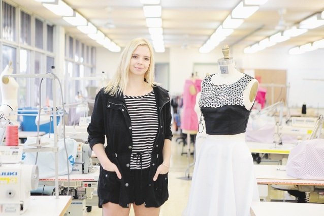 Gemma Wray has a taste for clothes that are clean and classic.