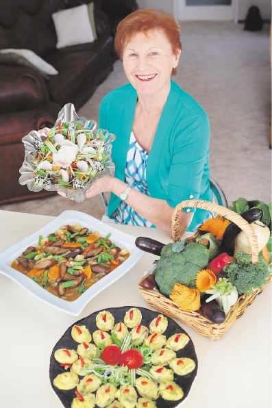 Maria Bernyi, of Maddington ,shows off some of her recipes. Pictures: Marcelo Palacios           d437520