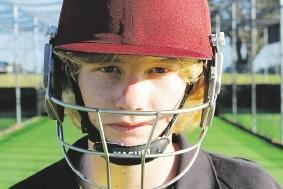 Rising cricket star Kyle Gardiner.