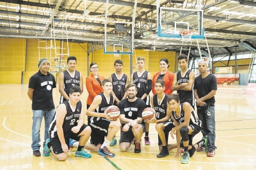 Brad Robbins and staff from the City of Swan and Jetstar with players selected for the program's Singapore competition.