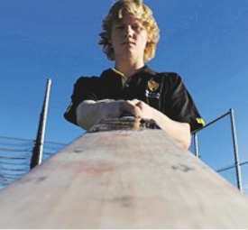 Teenager Kyle Gardiner has achieved much on the cricket field.