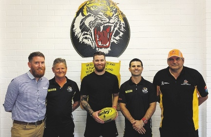 Club president Jeff Poultney, thirds coach Andy Leinasars, league coach Mat Aitchison, reserves coach Brent McMeikan and  colts coach John Kalin.