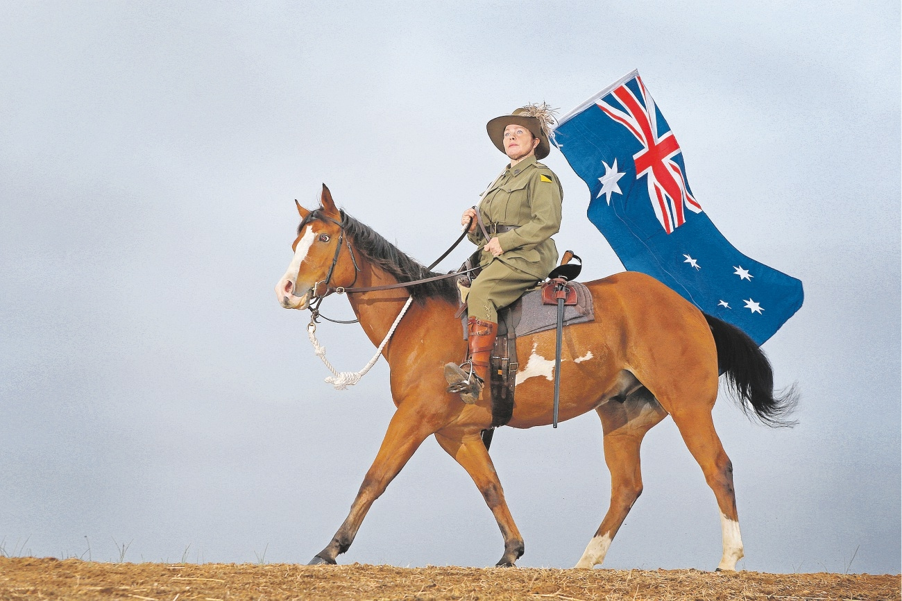 Susan Stevenson and horse Lightning. Picture: Bruce Hunt www.communitypix.com.au   d435852