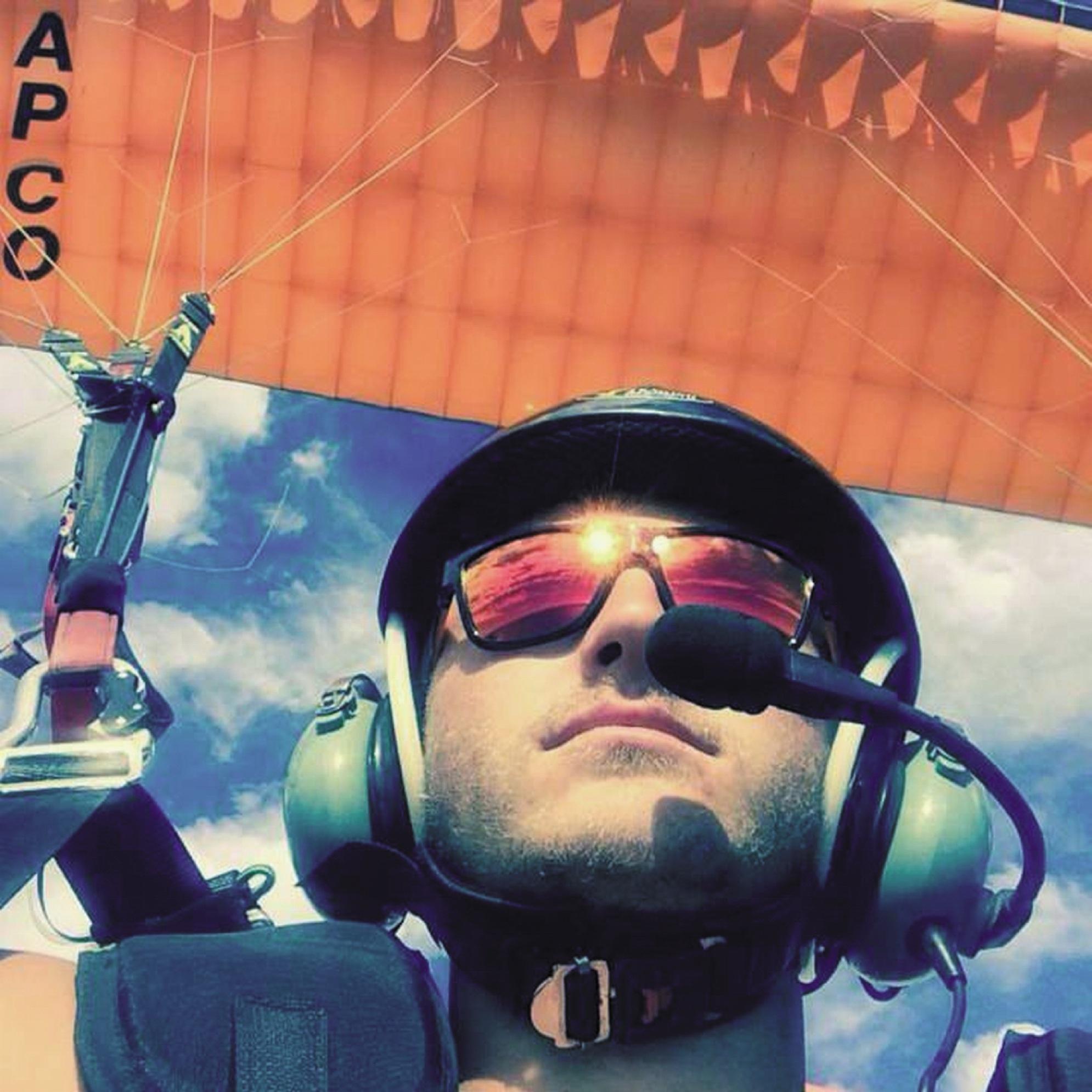 Kyle Wittstock in flight. Picture:Facebook