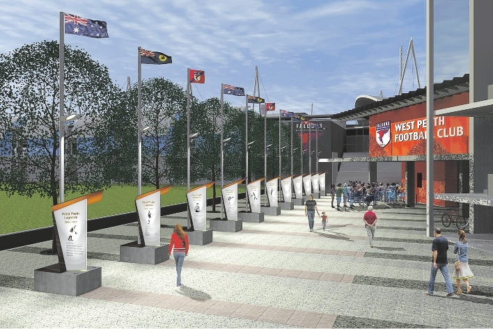 An artist's impression of the Walk of Legends.