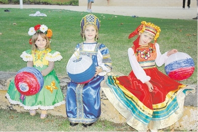 Mosaica dance group.... Masha (4), Arina (7) and Polina (7).