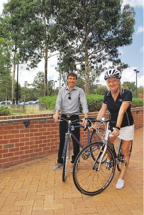 Wanneroo Mayor Tracey Roberts with community development officer Scott Shearer.