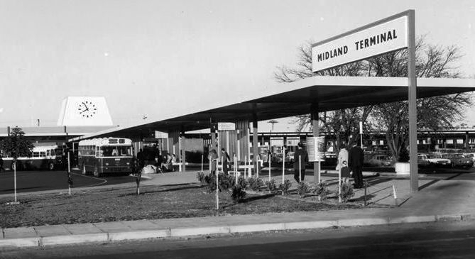 Midland station in 1968. Picture: railheritage.org.au