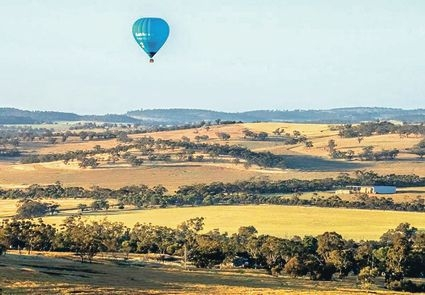 The picturesque landscape around Northam each spring will provide an ideal backdrop for next year's National Hot Air Balloon Championships. Inset: