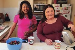Good friends Ambreen Munir and Peta Brown have both struggled with mental illness. d427054
