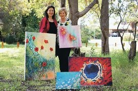 Artists Myriam Quinn and Merle Cranwell will exhibit their work at the Kinetic Colours exhibition. Picture: Emma Goodwin d426499