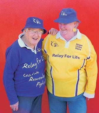 Relay for Life volunteers Merryl Smart and Pat La Frentz.
