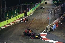 Daniel Ricciardo in full flight.