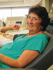 Maureen Fowler is in the top 10 blood donors.