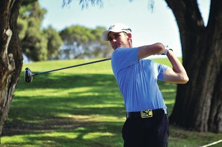 Gosnells Golf Club member Jarryd Felton in action at the Mandurah Amateur championship.