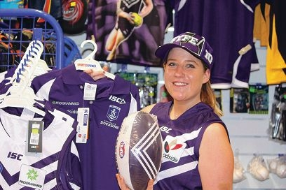 Sport shop's purple haze