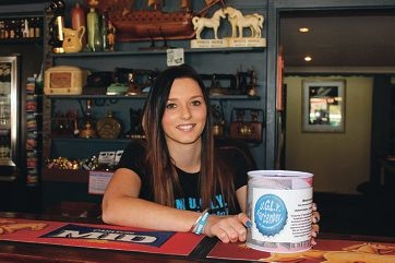 Savannah Skelton is raising money for the Leukaemia Foundation.