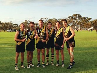 Cervantes premiership players Rhys Fitzpatrick, Tyson Lord, Brent Lecras, Callum Chambers, Clayton Lasscock and Tom Parker.
