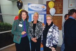 Extra Edge Community Services CEO Louise Gray, Department of Corrective Services Commissioner Heather Harker and Boronia Pre-release Centre for Women Superintendent Janette Allen at the Reconciliation Action Plan launch.