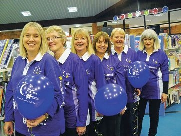 Collison's Crew members Jodie Cox, Gaylene Last-Harris, Karina Chappell, Josie Hawkins, Claire Bentley and Dee Cunningham get ready for the Relay for Life.