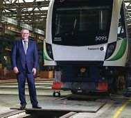 Minister Troy Buswell at the train's delivery.