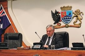 Canning Commissioner Linton Reynolds at the budget meeting last week.