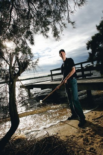 Swan River Trust river systems manager Mark Cugley said the project could prevent 70 tonnes of nitrogen and 10 tonnes of phosphorus from flowing into the Swan-Canning river system each year. Picture: Justin Benson-Cooper d295452