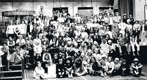 Kalamunda Senior High School Year 9 drama class in 1977 in the production of Something Wicked This Way Comes.